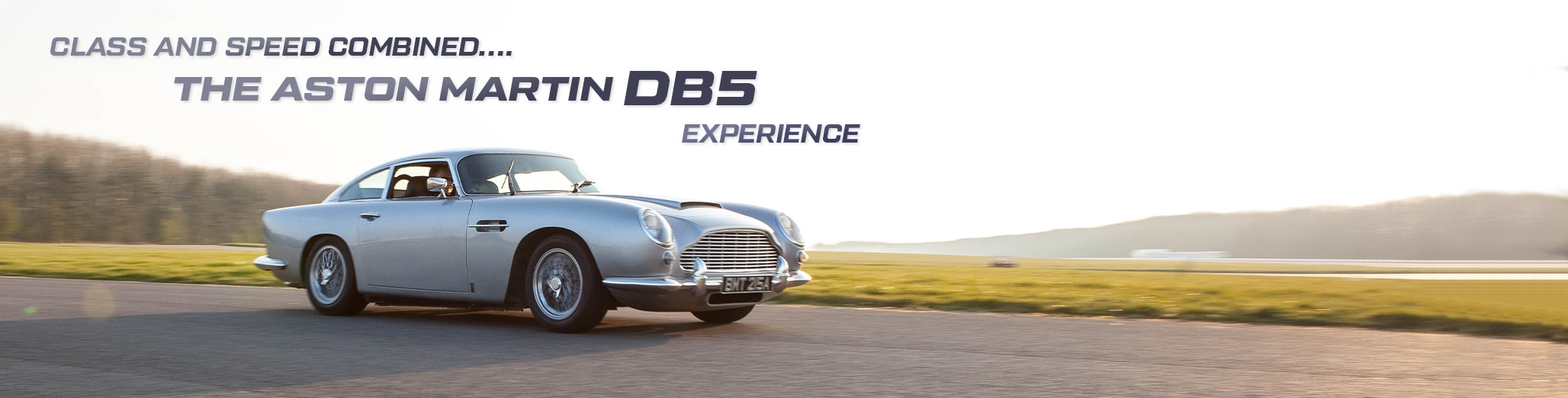 Aston Martin DB5 Experience Banner